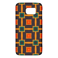 Connected shapes in retro colors                         Samsung Galaxy S6 Hardshell Case
