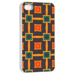 Connected shapes in retro colors                         			Apple iPhone 4/4s Seamless Case (White)