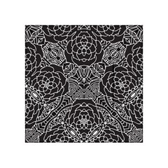 Mariager, Bold flower design, black & white Acrylic Tangram Puzzle (4  x 4 )