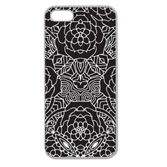 Mariager, Bold flower design, black & white Apple Seamless iPhone 5 Case (Clear)
