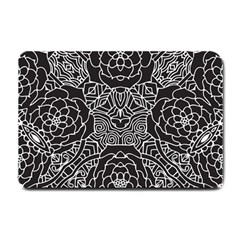 Mariager, Bold Flower Design, Black & White Small Doormat