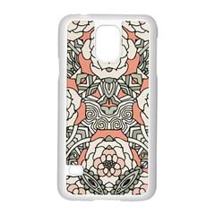 Petals in Vintage Pink, Bold Flower Design Samsung Galaxy S5 Case (White)
