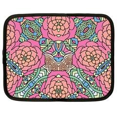 Petals, Carnival, Bold Flower Design Netbook Case (Large)