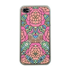 Petals, Carnival, Bold Flower Design Apple iPhone 4 Case (Clear)