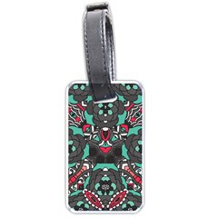 Petals in Dark & Pink, Bold Flower Design Luggage Tag (one side)