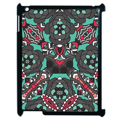 Petals in Dark & Pink, Bold Flower Design Apple iPad 2 Case (Black)