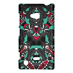 Petals In Dark & Pink, Bold Flower Design Nokia Lumia 720 Hardshell Case