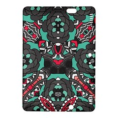 Petals in Dark & Pink, Bold Flower Design Kindle Fire HDX 8.9  Hardshell Case