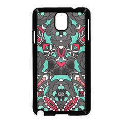 Petals in Dark & Pink, Bold Flower Design Samsung Galaxy Note 3 Neo Hardshell Case (Black)