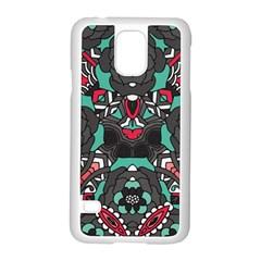 Petals in Dark & Pink, Bold Flower Design Samsung Galaxy S5 Case (White)