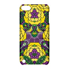 Petals in Mardi Gras colors, Bold Floral Design Apple iPod Touch 5 Hardshell Case with Stand