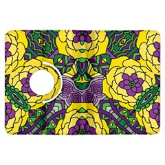 Petals in Mardi Gras colors, Bold Floral Design Kindle Fire HDX Flip 360 Case
