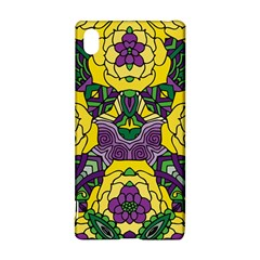 Petals in Mardi Gras colors, Bold Floral Design Sony Xperia Z3+ Hardshell Case