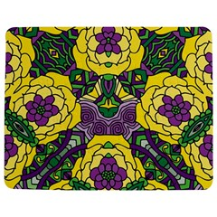 Petals In Mardi Gras Colors, Bold Floral Design Jigsaw Puzzle Photo Stand (rectangular)
