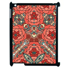 Petals in Pale Rose, Bold Flower Design Apple iPad 2 Case (Black)
