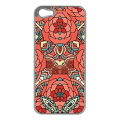Petals in Pale Rose, Bold Flower Design Apple iPhone 5 Case (Silver)