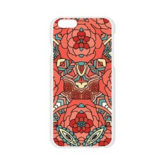 Petals in Pale Rose, Bold Flower Design Apple Seamless iPhone 6/6S Case (Transparent)