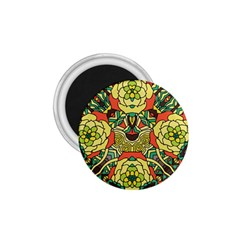 Petals, Retro Yellow, Bold Flower Design 1 75  Magnet