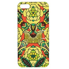 Petals, Retro Yellow, Bold Flower Design Apple iPhone 5 Hardshell Case with Stand