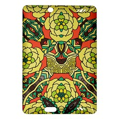 Petals, Retro Yellow, Bold Flower Design Amazon Kindle Fire HD (2013) Hardshell Case
