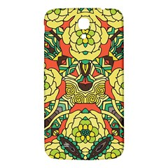 Petals, Retro Yellow, Bold Flower Design Samsung Galaxy Mega I9200 Hardshell Back Case