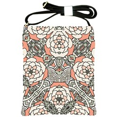 Petals in Vintage Pink, Bold Flower Design Shoulder Sling Bag