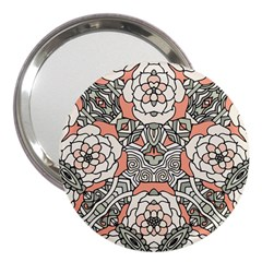 Petals in Vintage Pink, Bold Flower Design 3  Handbag Mirror