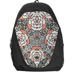 Petals in Vintage Pink, Bold Flower Design Backpack Bag