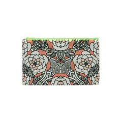 Petals in Vintage Pink, Bold Flower Design Cosmetic Bag (XS)