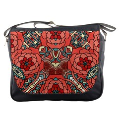 Petals in Pale Rose, Bold Flower Design Messenger Bag