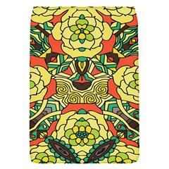 Petals, Retro Yellow, Bold Flower Design Removable Flap Cover (S)