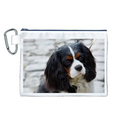 Cavalier King Charles Spaniel 2 Canvas Cosmetic Bag (L)