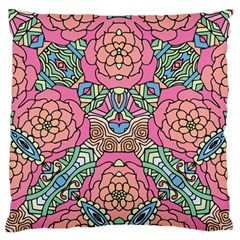Petals, Carnival, Bold Flower Design Large Flano Cushion Case (One Side)