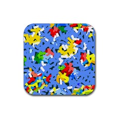 Rectangles mix                          			Rubber Square Coaster (4 pack