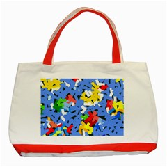 Rectangles mix                          Classic Tote Bag (Red)