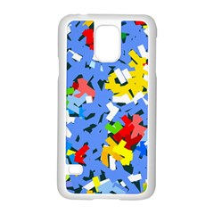 Rectangles mix                          			Samsung Galaxy S5 Case (White)