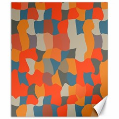 Retro colors distorted shapes                           			Canvas 8  x 10