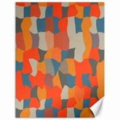 Retro colors distorted shapes                           			Canvas 12  x 16