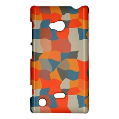 Retro colors distorted shapes                           			Nokia Lumia 720 Hardshell Case