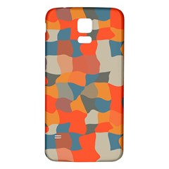 Retro Colors Distorted Shapes                           samsung Galaxy S5 Back Case (white)