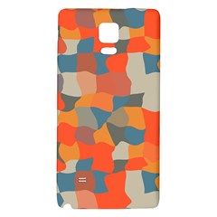 Retro colors distorted shapes                           			Samsung Note 4 Hardshell Back Case