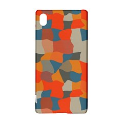 Retro Colors Distorted Shapes                           sony Xperia Z3+ Hardshell Case