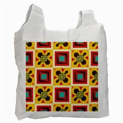 Retro colors squares pattern                            Recycle Bag