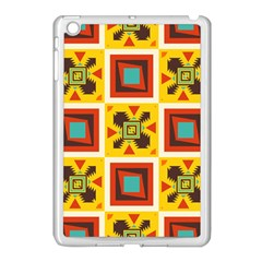 Retro colors squares pattern                            			Apple iPad Mini Case (White)