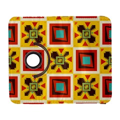 Retro colors squares pattern                            			Samsung Galaxy S III Flip 360 Case