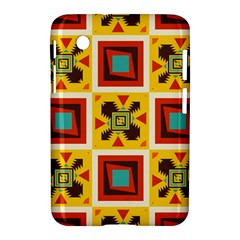 Retro Colors Squares Pattern                            			samsung Galaxy Tab 2 (7 ) P3100 Hardshell Case