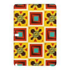 Retro colors squares pattern                            			Samsung Galaxy Tab Pro 10.1 Hardshell Case