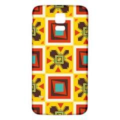 Retro Colors Squares Pattern                            			samsung Galaxy S5 Back Case (white)