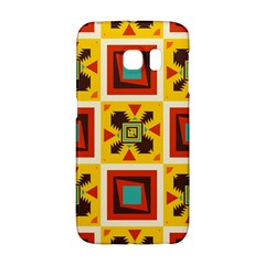 Retro colors squares pattern                            			Samsung Galaxy S6 Edge Hardshell Case