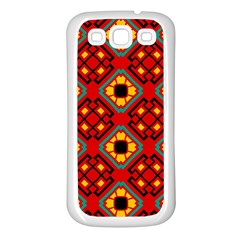Flower shapes pattern                             			Samsung Galaxy S3 Back Case (White)
